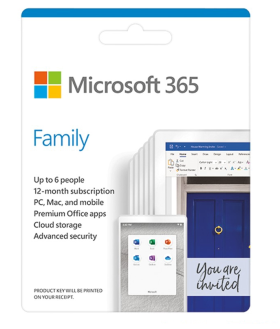 Microsoft 365 Family 32bit/x64 All Languages 1YR (6GQ-00083)